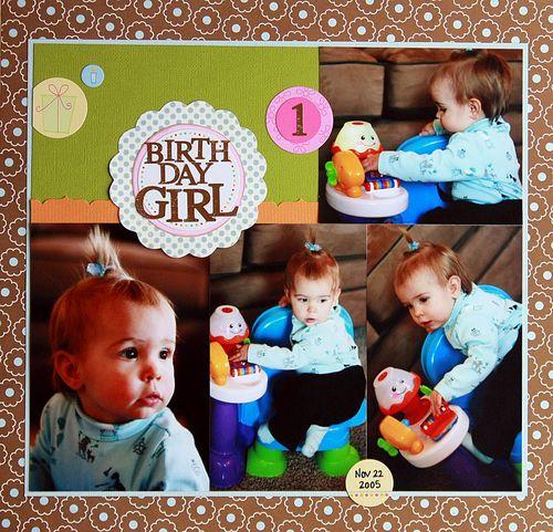 SR March Bday girl
